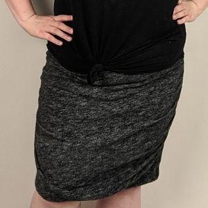 Lane Bryant Skirt Size 20 Leather Trim Gray